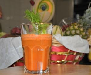 carota, zenzero e finocchio